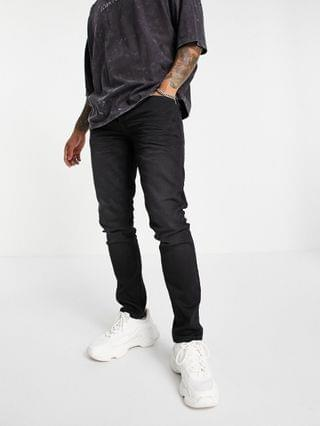 Only & Sons slim fit jeans in washed black