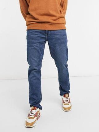 Only & Sons slim fit mid wash blue jeans