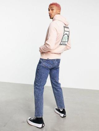 The North Face Faces back print hoodie in pink Exclusive to