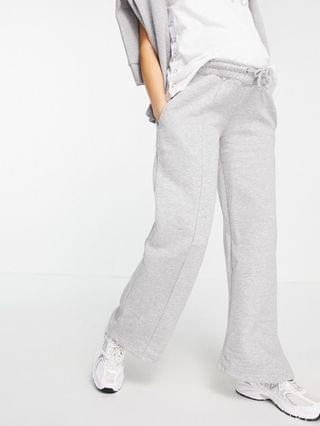 WOMEN Missguided Maternity set straight leg sweatpants with pintuck detail in gray heather