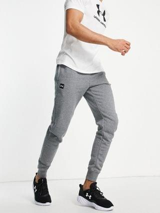Under Armour Training Rival fleece sweatpants in gray