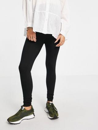 WOMEN Missguided Maternity recycled leggings in black