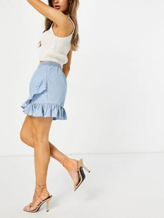 WOMEN French Connection Aves mini skirt in blue