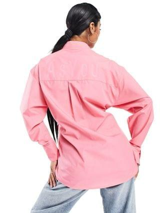 WOMEN ASYOU oversized shirt with back branding in pink