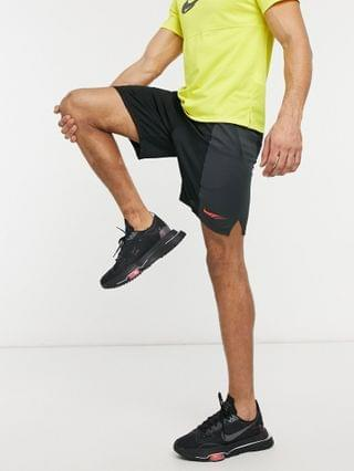 Nike Training Dri-FIT SC Energy shorts in black and gray