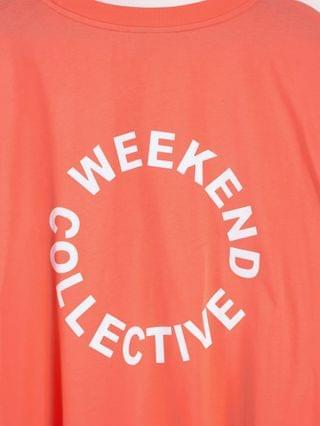WOMEN Weekend Collective Curve oversized longsleeve t-shirt with back logo in orange