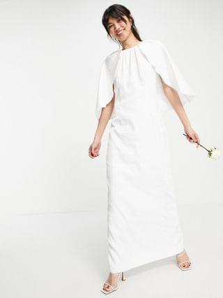 WOMEN Y.A.S Bridal maxi dress with cape detail in white