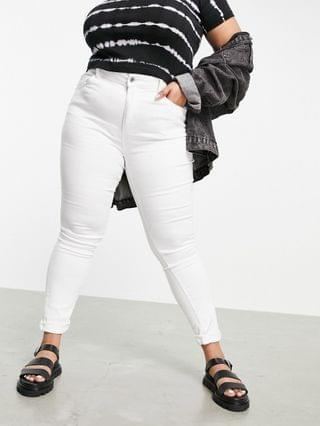 WOMEN Only Curve Augusta high waisted skinny jean in white
