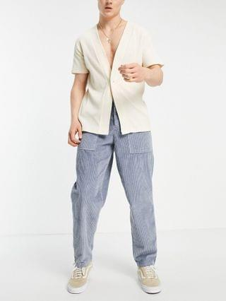 chunky cord pants in balloon fit in gray