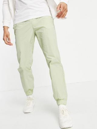 Topman relaxed fit nylon sweatpants in sage