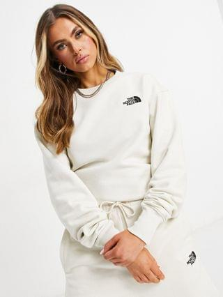 WOMEN The North Face oversized essential sweatshirt in white - Exclusive to
