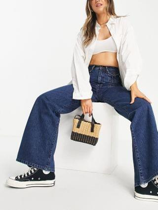 WOMEN French Connection 70's flared jean in mid blue wash