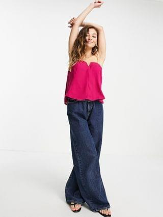 WOMEN Free People Toss It On tube bandeau with notch front