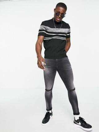 River Island knit color block tee