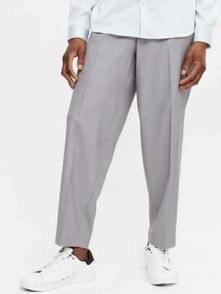 New Look loose fit smart pants in gray