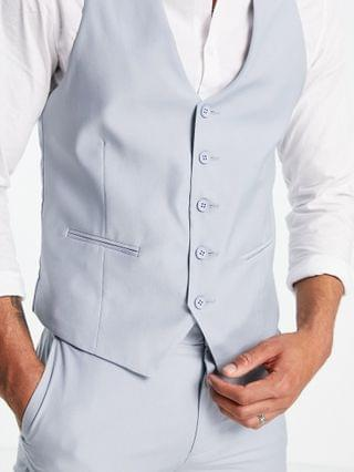New Look vest in pale blue