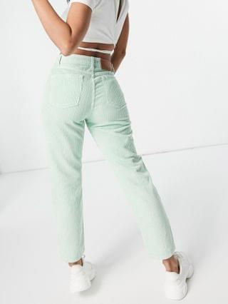 WOMEN Reclaimed Vintage Inspired The 91 original mom jeans in mint corduroy