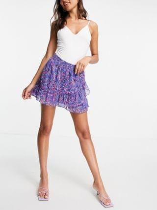 WOMEN French Connection Flores mini skirt in blue