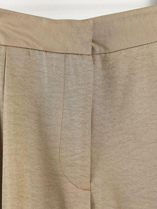 WOMEN Closet London slouchy flare tailored pant in light beige