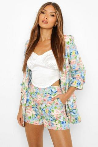 WOMEN Floral Tailored Shorts