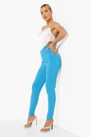 WOMEN Seam Front Skinny Stretch Trousers
