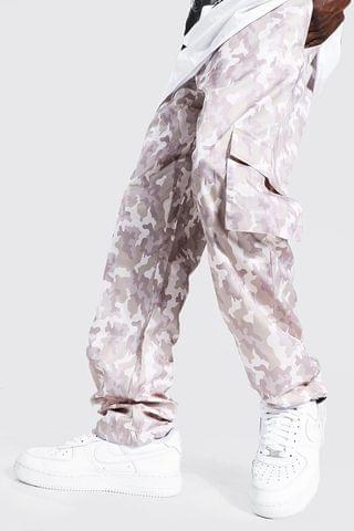 MEN Camo Shell Cargo Trouser With Toggles