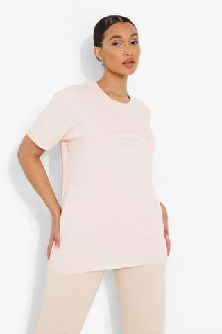 WOMEN Cotton Embroidered Canne Overdyed T Shirt