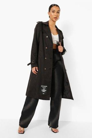 WOMEN Branded Belted Trench Coat