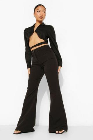 WOMEN Petite Fit And Flare High Waist Trouser
