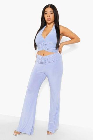 WOMEN Plus Ruched Halter Trouser Co-ord