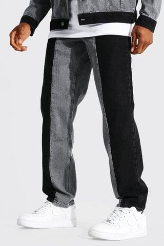 MEN Relaxed Fit Contrast Jean