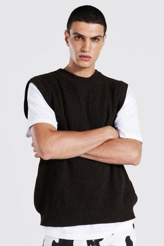 MEN Oversized Fit Chunky Textured Tank Top