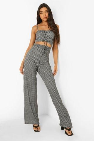 WOMEN Tall Crop Top And Wide Leg Trouser Co-ord
