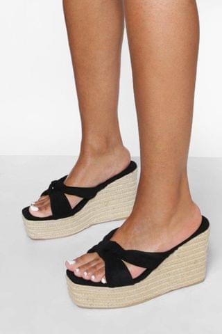 WOMEN Bow Crossover Wedge