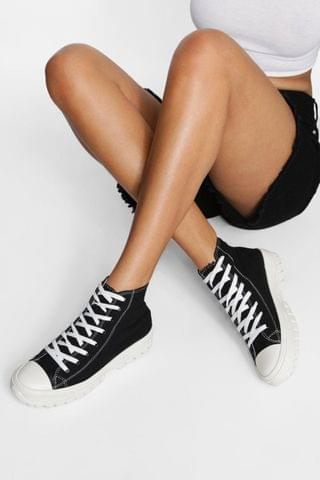 WOMEN Cleated Sole High Top Trainer