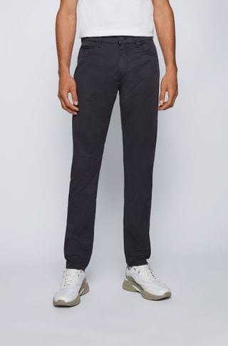 MEN Tapered-fit jeans in paper-touch stretch-cotton gabardine