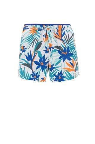 MEN Recycled-fabric swim shorts with floral print