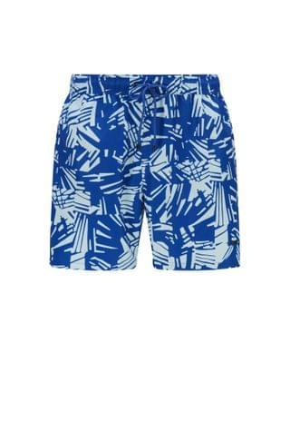MEN Abstract-print swim shorts in quick-drying recycled fabric
