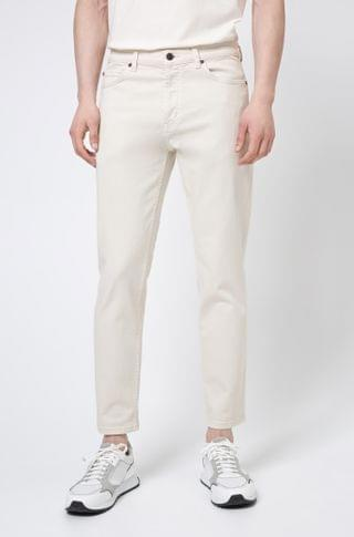 MEN Tapered-fit jeans in stretch denim with organic cotton
