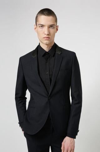MEN Extra-slim-fit jacket in performance-stretch cloth