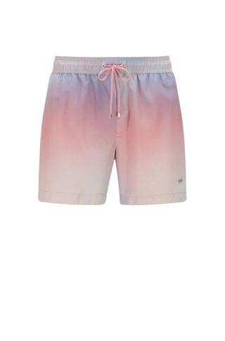 MEN Printed swim shorts in quick-drying recycled fabric