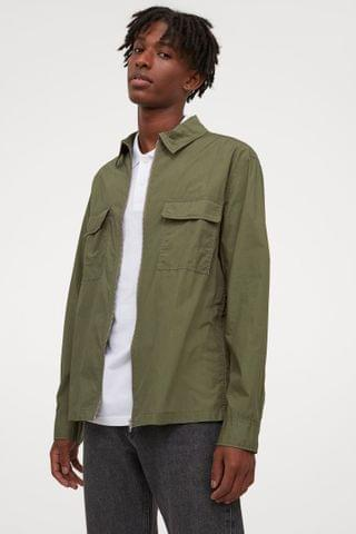 MEN Relaxed Fit Shirt Jacket