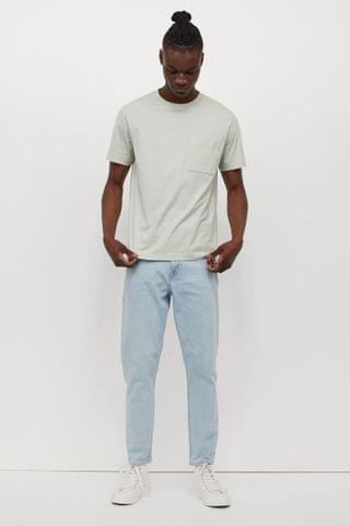 MEN Slim Tapered Cropped Jeans