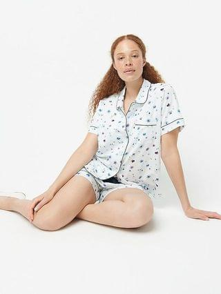 WOMEN Dreamy short-sleeve pajama short set in airy floral