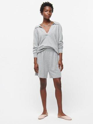 WOMEN Cashmere relaxed pull-on short