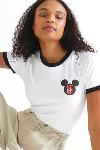 WOMEN Mickey Fitted T-shirt