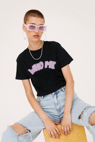 WOMEN Who Me Like This Graphic T-Shirt