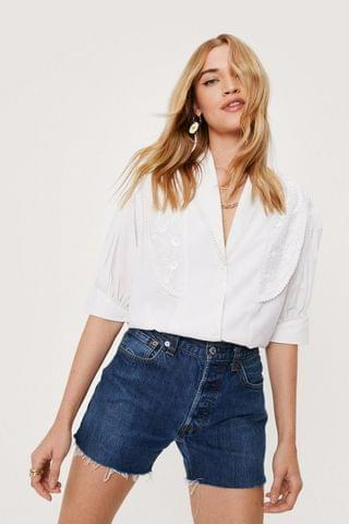 WOMEN Embroidered Ss Blouse