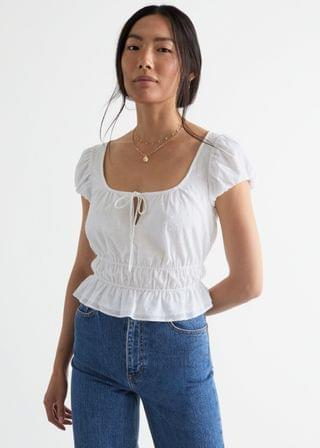 WOMEN Fitted Puff Sleeve Top