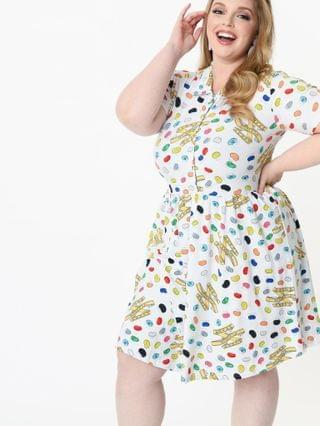 WOMEN Cakeworthy Plus Size Every Flavour Beans Print Fit & Flare Dress